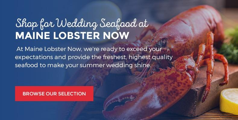 Lobster wedding details