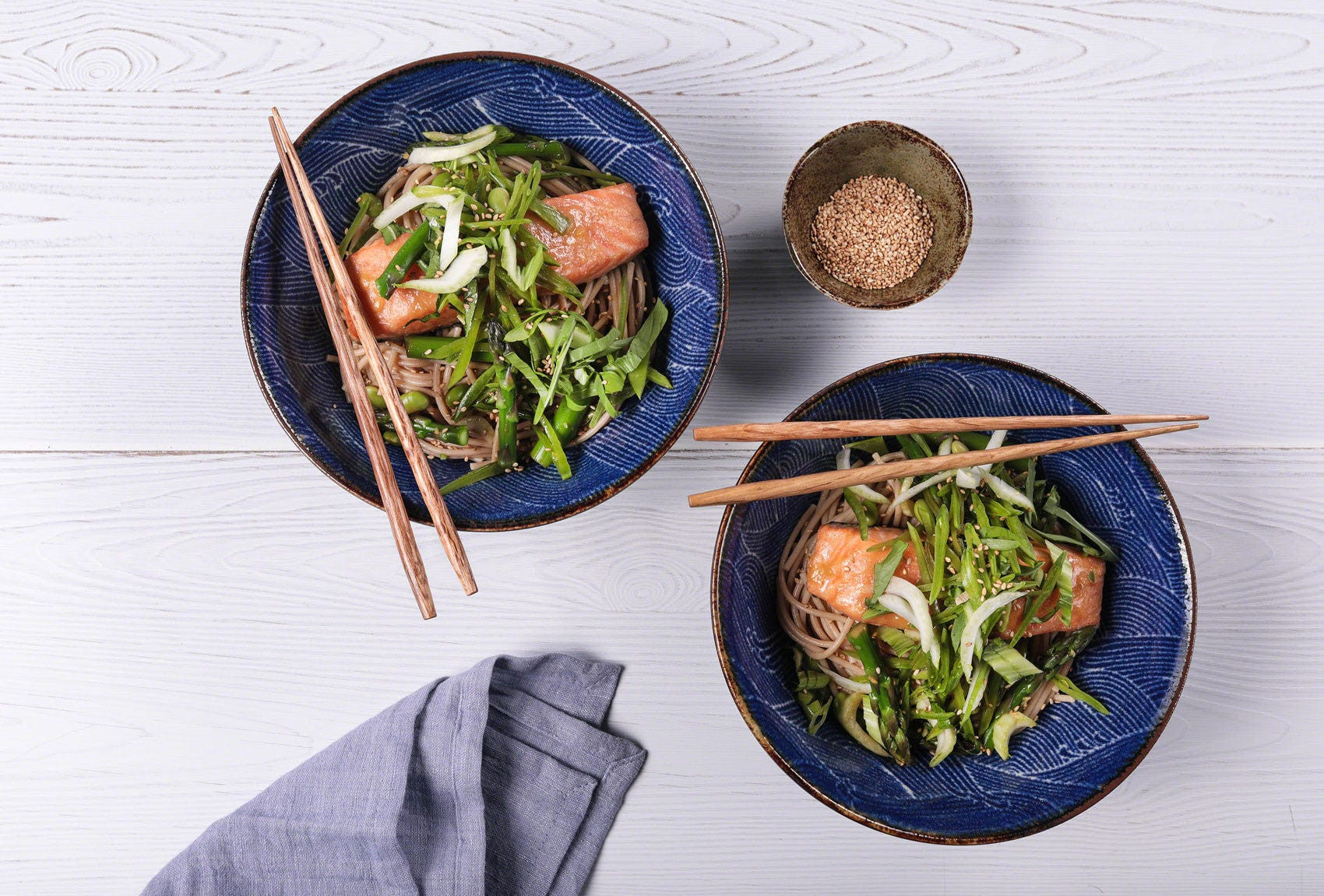 Miso Glazed Salmon with Sesame Noodles