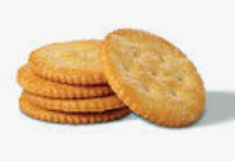 Ritz crackers (plain or garlic)
