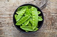 snow peas, sliced into thin strips