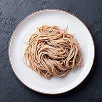 whole wheat spaghetti or buckwheat soba noodles