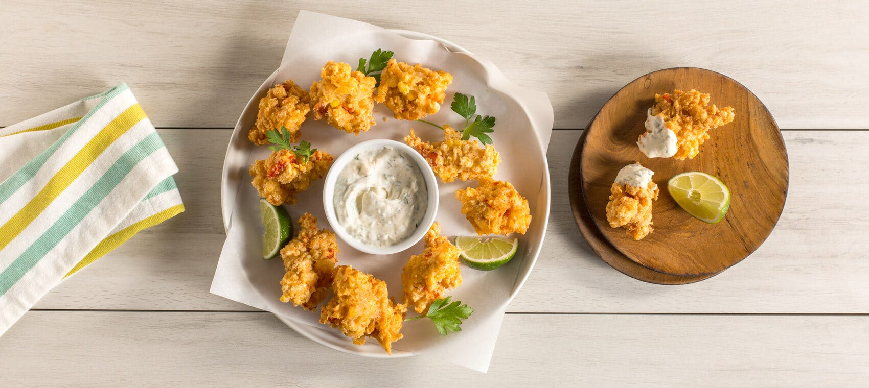 Corn and Lobster Fritters