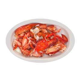 pre-cooked fresh lobster meat such as tails, claws and knuckle meat, chopped