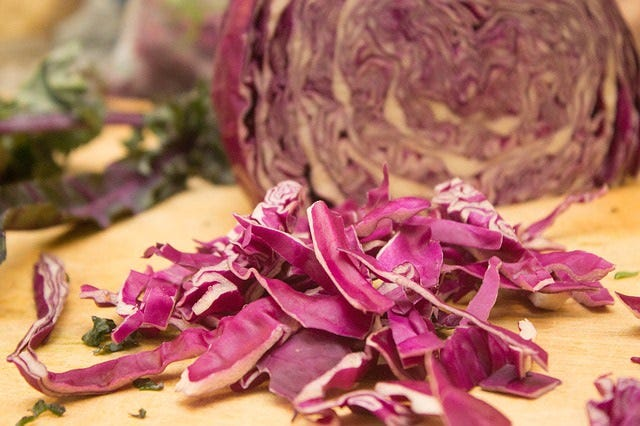 shredded purple cabbage