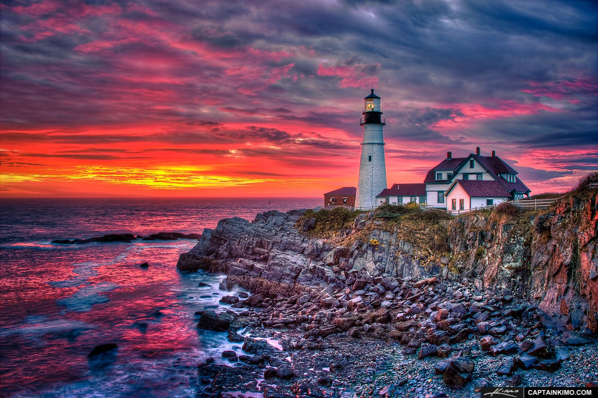 Portland Head Light at Sunrise from Fort Williams Park