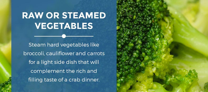 Raw or steamed vegetables