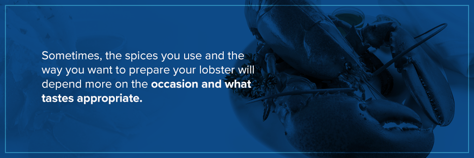 What to spice a lobster with