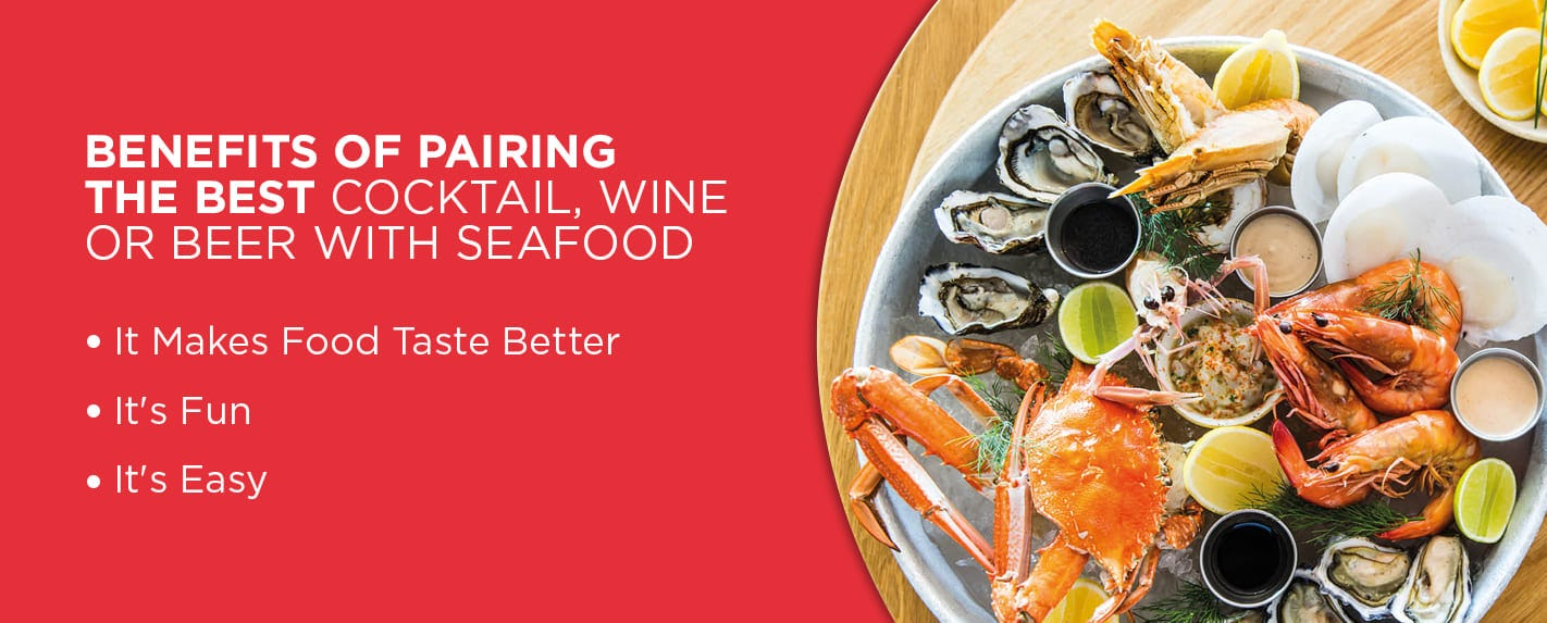 properly paired seafood and cocktails