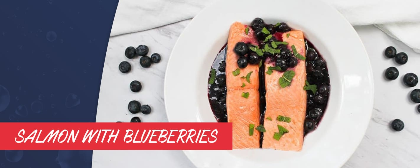 salmon and blueberries recipe