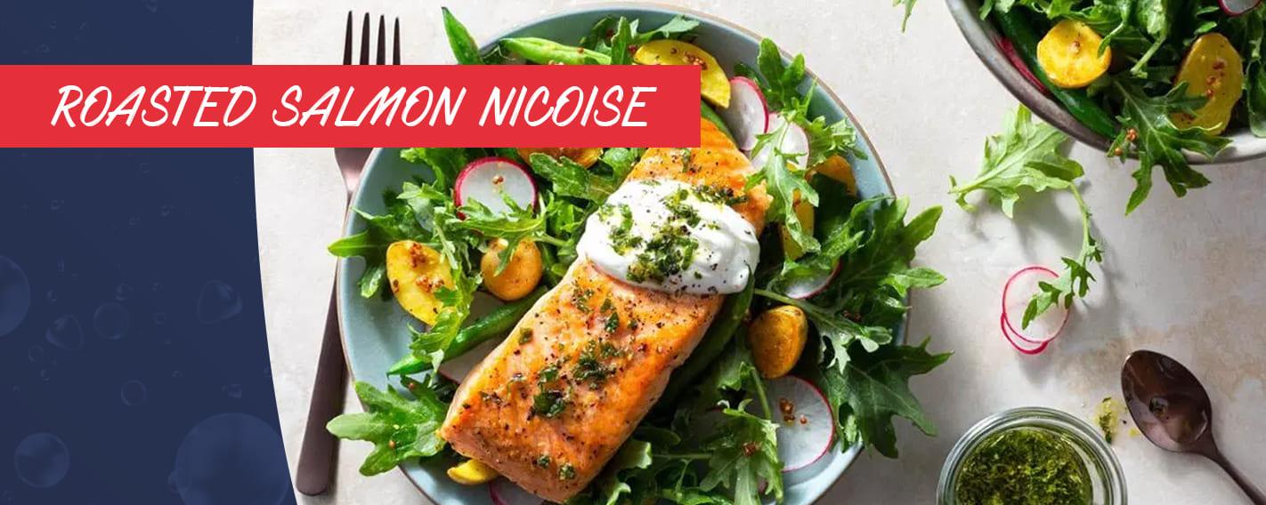 Roasted Salmon Nicoise Recipe