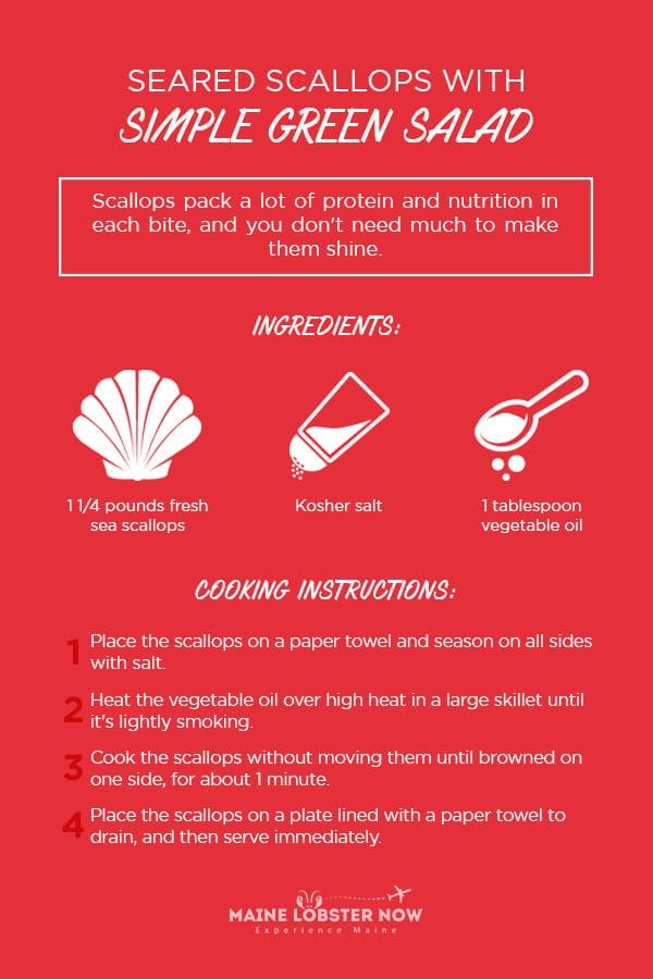 seared scallops with greens recipe