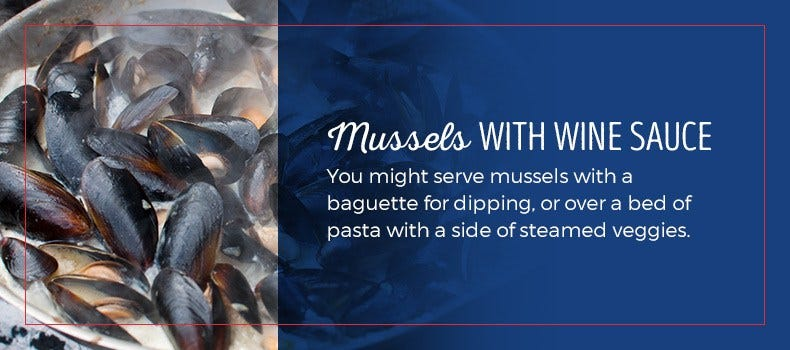 mussels with wine sauce recipe