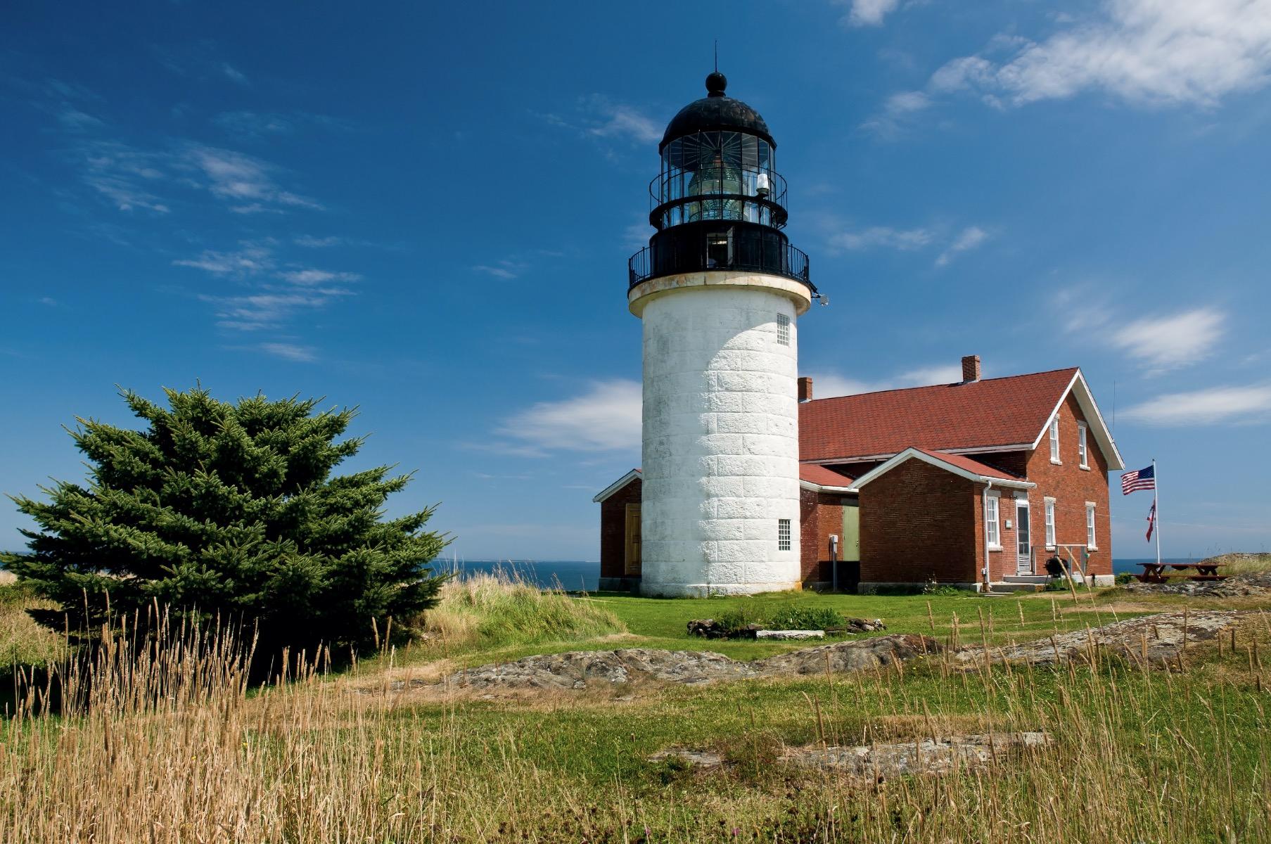 White stone lighthouse