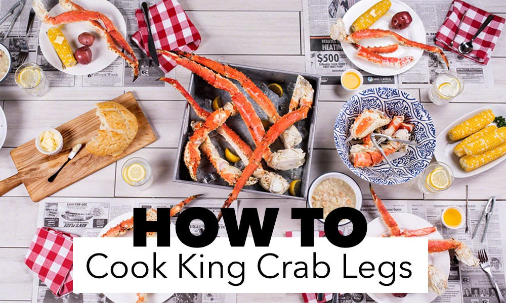 How to cook king crab legs on a table
