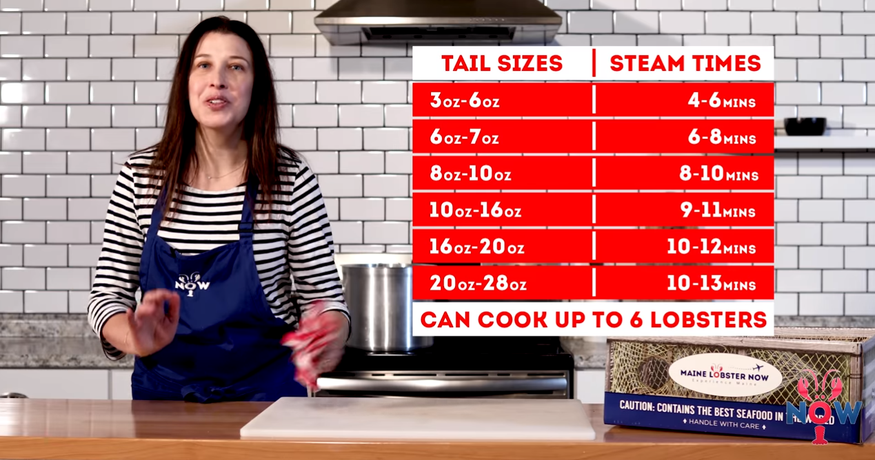 Tail size and cook time chart